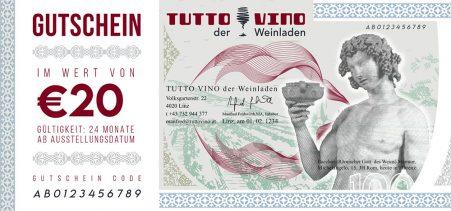 Gutschein 20 EUR